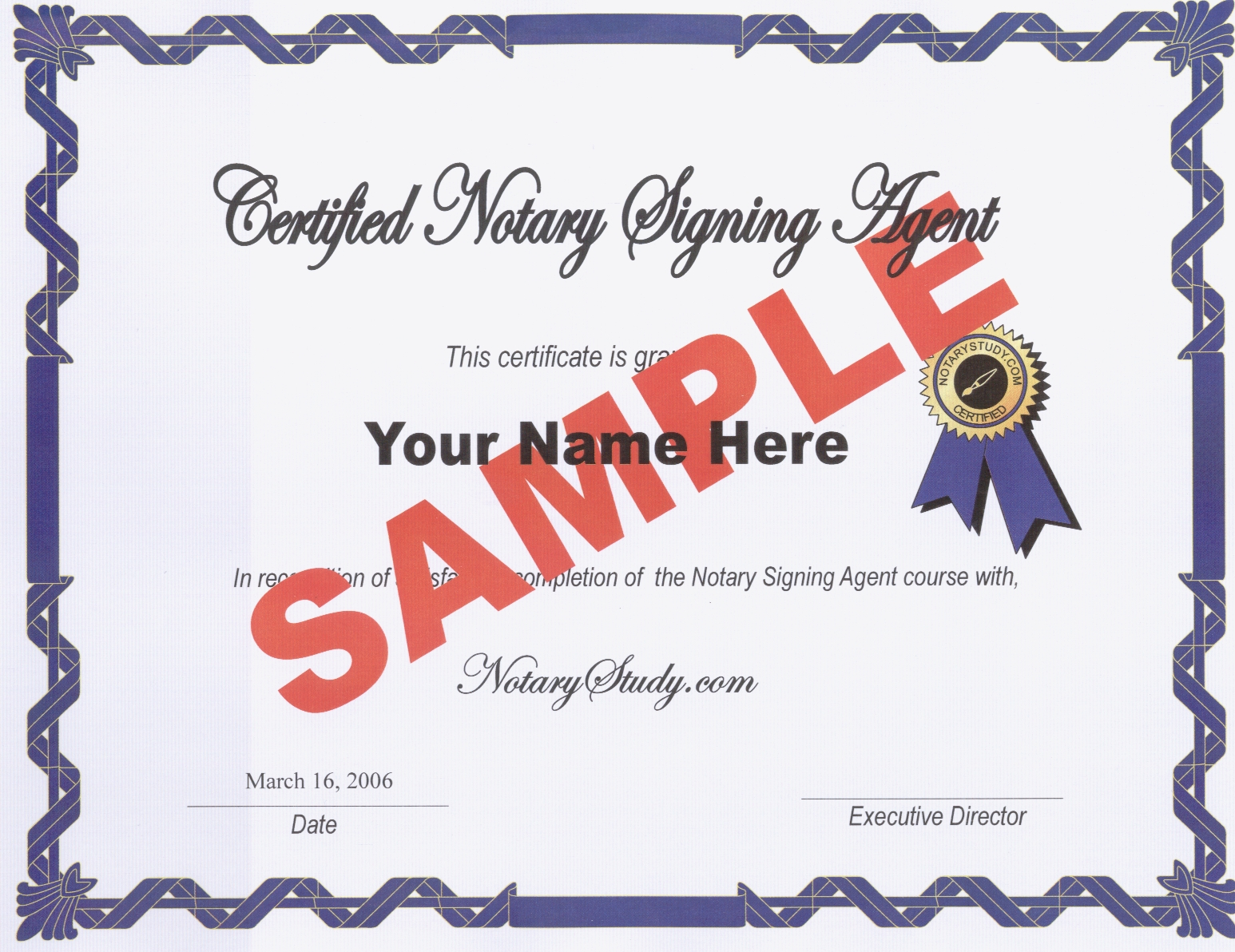New york notary signing agent your notary signing agent certificate sent by first class mail after you pass the certification exam click here publicscrutiny Image collections